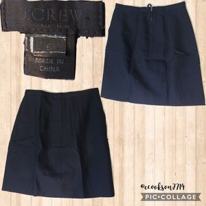 J crew black label dark blue skirt Euc sz6-pockets